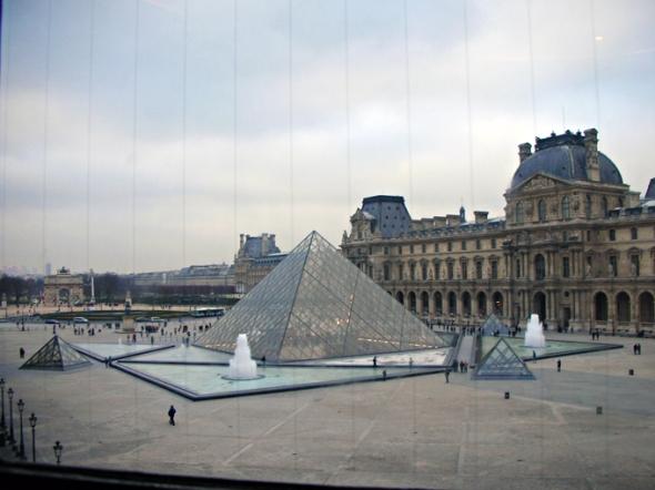 Paris the louvre pyramid pyramide du louvre - Pyramide du louvre inauguration ...